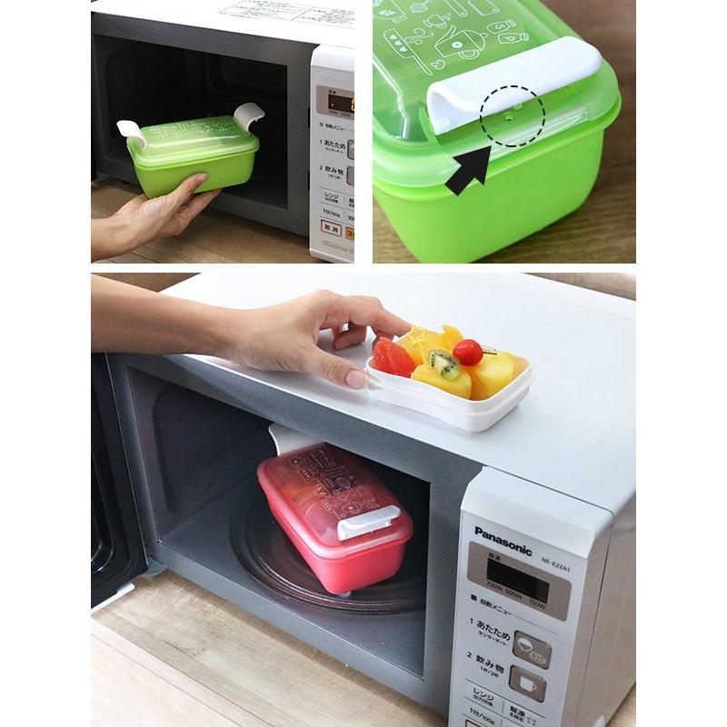 お弁当箱 1段 2段 2way クチーナ セパレートランチボックス 500ml〜670ml ( 弁当箱 レンジ対応 食洗機対応 日本製 おすすめ )|colorfulbox|09