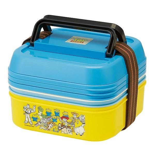 お弁当箱 3段 取り皿付き トイストーリー ランチボックス コンパクト 3段ランチボックス 4500ml ( キャラクター 日本製 ピクニックランチボックス 弁当箱 ) colorfulbox 02