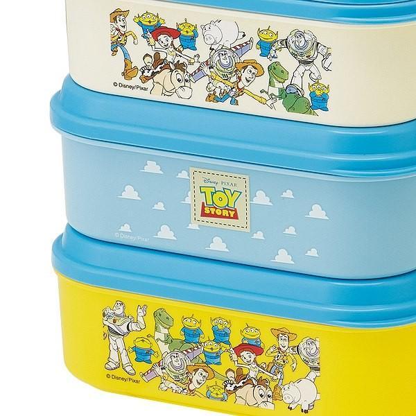 お弁当箱 3段 取り皿付き トイストーリー ランチボックス コンパクト 3段ランチボックス 4500ml ( キャラクター 日本製 ピクニックランチボックス 弁当箱 ) colorfulbox 03