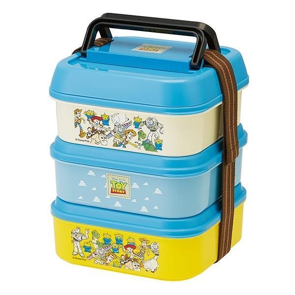 お弁当箱 3段 取り皿付き トイストーリー ランチボックス コンパクト 3段ランチボックス 4500ml ( キャラクター 日本製 ピクニックランチボックス 弁当箱 ) colorfulbox 05