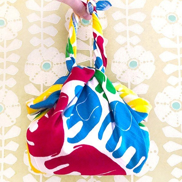 風呂敷 75cm ふろしき クロス Finlayson ELEFANTTI ( バッグ 京都 包み お弁当包み ふろしきバッグ 75センチ ) colorfulbox 03