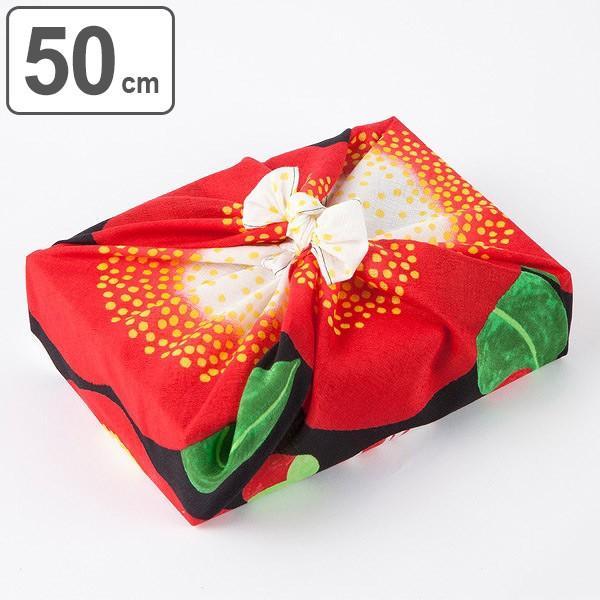 風呂敷 50cm 浅山美里 ふろしき 椿 綿 ( お弁当包み 50センチ 綿 お包み 小風呂敷 金封包み お弁当 )|colorfulbox