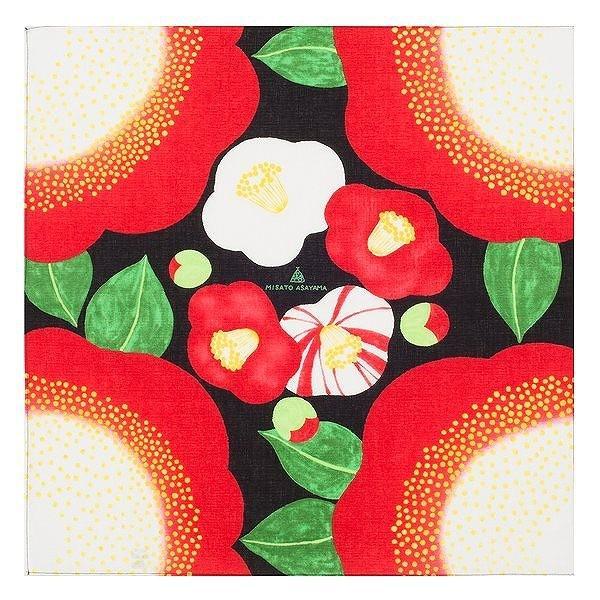風呂敷 50cm 浅山美里 ふろしき 椿 綿 ( お弁当包み 50センチ 綿 お包み 小風呂敷 金封包み お弁当 )|colorfulbox|02