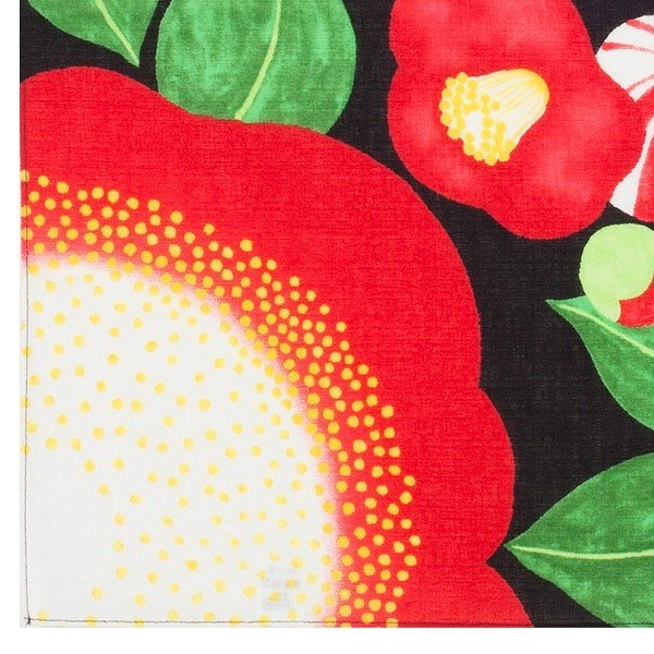 風呂敷 50cm 浅山美里 ふろしき 椿 綿 ( お弁当包み 50センチ 綿 お包み 小風呂敷 金封包み お弁当 )|colorfulbox|03