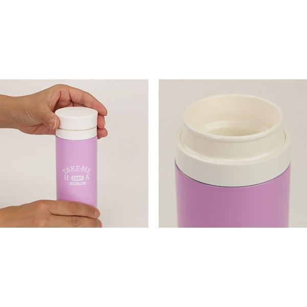 水筒 ステンレス マグボトル 300ml 軽量 TAKE-ME ステンレスボトル ( 保温 保冷 テイクミー ステンレス製 おすすめ ) colorfulbox 07