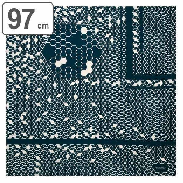 風呂敷 97cm KONOMI ハニカム 漆黒 ( ふろしき 風呂敷き 大判風呂敷 )|colorfulbox