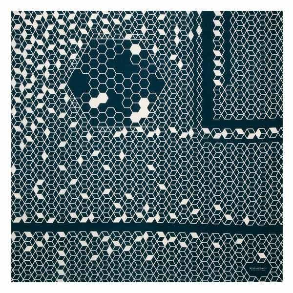 風呂敷 97cm KONOMI ハニカム 漆黒 ( ふろしき 風呂敷き 大判風呂敷 )|colorfulbox|03