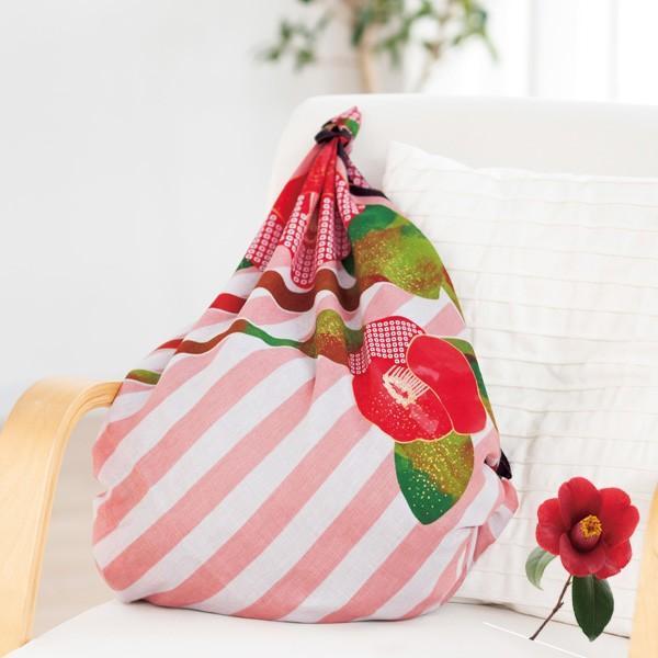 風呂敷 97cm ディアレディー 椿 ( ふろしき 風呂敷き 大判風呂敷 ) colorfulbox 04