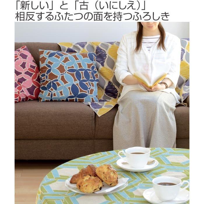 風呂敷 アタラシキイニシエ両面 kikkou 108cm ( ふろしき 風呂敷き 大判風呂敷 )|colorfulbox|02