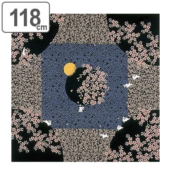 風呂敷 自遊布綿大ふろしき 夜桜うさぎ 118cm ( ふろしき 大判 大風呂敷 )|colorfulbox