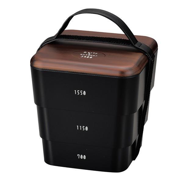 弁当箱 お重 DON 三段重 入れ子式 重箱 3〜4人用 3400ml ( 木目 ランチボックス お弁当箱 シール蓋 お重箱 ) colorfulbox 14