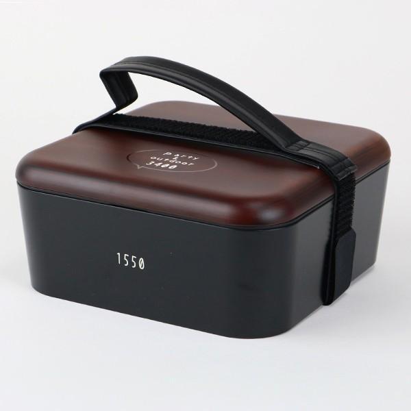 弁当箱 お重 DON 三段重 入れ子式 重箱 3〜4人用 3400ml ( 木目 ランチボックス お弁当箱 シール蓋 お重箱 ) colorfulbox 04