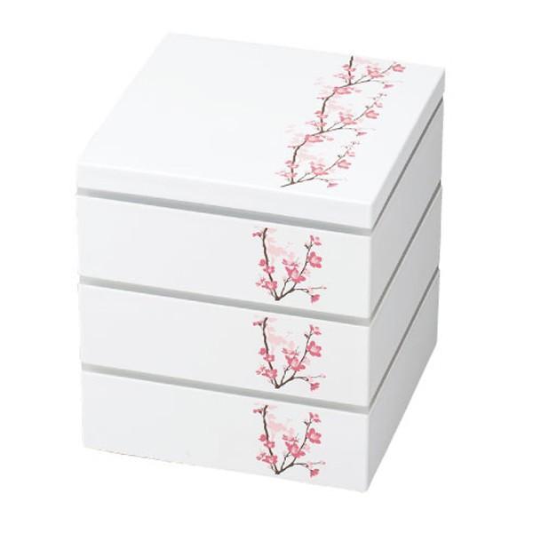 お弁当箱 3段 お重 15.0三段重 SAKURA HAKOYA 2280ml ( 弁当箱 ピクニックランチボックス ランチボックス 2〜3人用 おすすめ )|colorfulbox|03