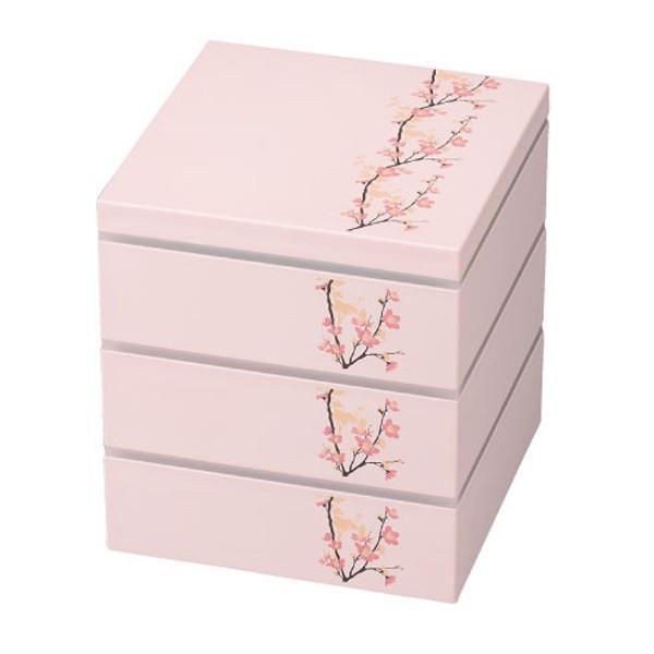 お弁当箱 3段 お重 15.0三段重 SAKURA HAKOYA 2280ml ( 弁当箱 ピクニックランチボックス ランチボックス 2〜3人用 おすすめ )|colorfulbox|04
