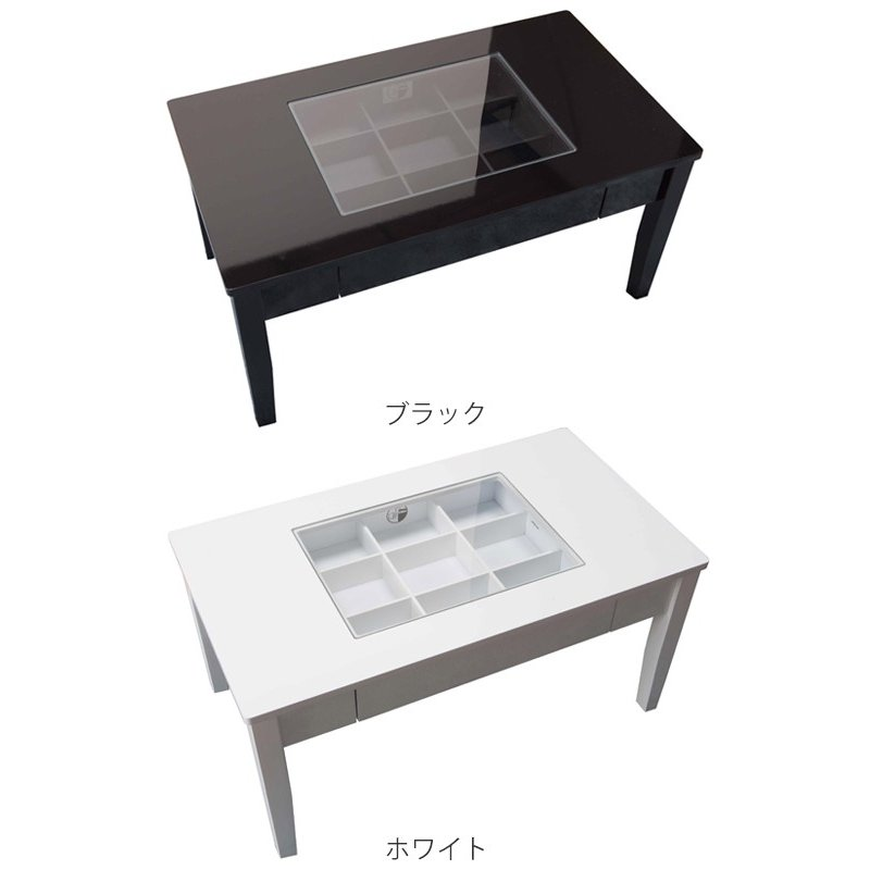 テーブル 幅80cm コレクションテーブル コスメ アクセサリー 収納 センターテーブル ( リビングテーブル ローテーブル 引き出し ディスプレイ )|colorfulbox|03