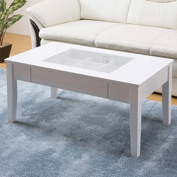 テーブル 幅80cm コレクションテーブル コスメ アクセサリー 収納 センターテーブル ( リビングテーブル ローテーブル 引き出し ディスプレイ )|colorfulbox|08