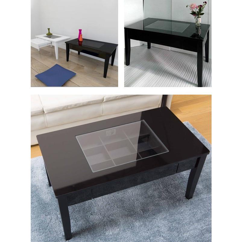 テーブル 幅80cm コレクションテーブル コスメ アクセサリー 収納 センターテーブル ( リビングテーブル ローテーブル 引き出し ディスプレイ )|colorfulbox|09