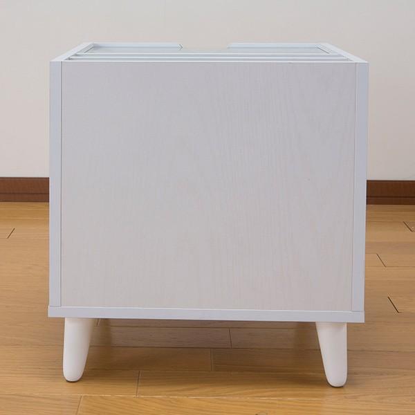 サイドテーブル 幅40cm コスメボックス ガラス天板 コンパクト コスメ アクセサリー 収納 マガジンラック ( テーブル ミニ ドレッサー ソファテーブル )|colorfulbox|19