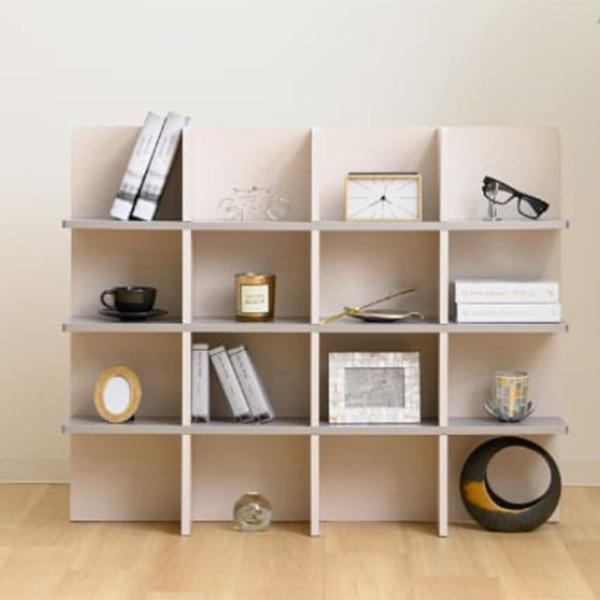 シェルフ 幅98cm 収納 ラック ベッド ベッドフレーム 組み立て簡単 ( ベッドサイド 棚 収納棚 壁面収納 )|colorfulbox|11