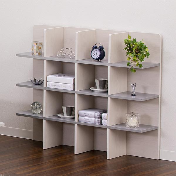 シェルフ 幅98cm 収納 ラック ベッド ベッドフレーム 組み立て簡単 ( ベッドサイド 棚 収納棚 壁面収納 )|colorfulbox|12
