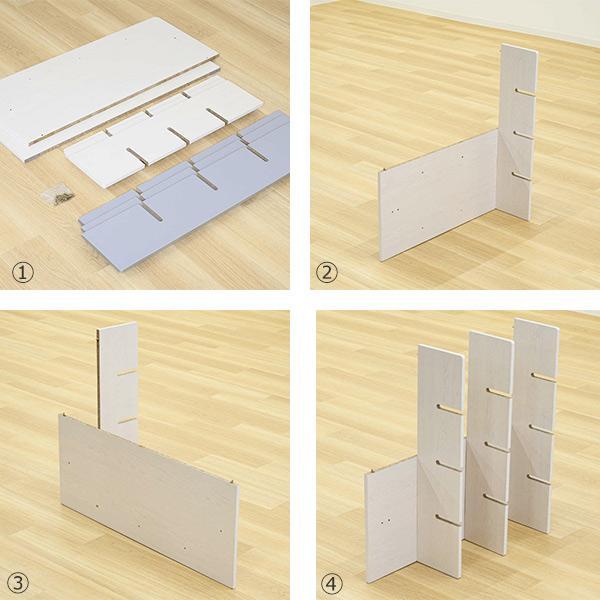 シェルフ 幅98cm 収納 ラック ベッド ベッドフレーム 組み立て簡単 ( ベッドサイド 棚 収納棚 壁面収納 )|colorfulbox|05