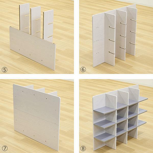 シェルフ 幅98cm 収納 ラック ベッド ベッドフレーム 組み立て簡単 ( ベッドサイド 棚 収納棚 壁面収納 )|colorfulbox|06