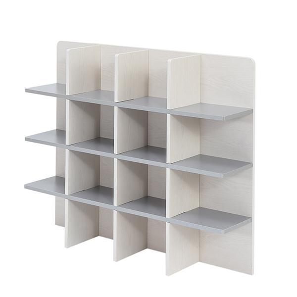 シェルフ 幅98cm 収納 ラック ベッド ベッドフレーム 組み立て簡単 ( ベッドサイド 棚 収納棚 壁面収納 )|colorfulbox|07