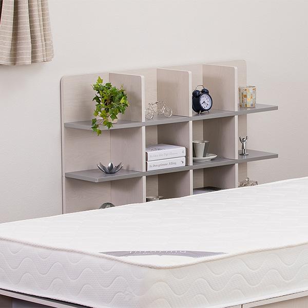 シェルフ 幅98cm 収納 ラック ベッド ベッドフレーム 組み立て簡単 ( ベッドサイド 棚 収納棚 壁面収納 )|colorfulbox|08