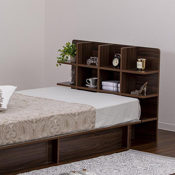 シェルフ 幅98cm 収納 ラック ベッド ベッドフレーム 組み立て簡単 ( ベッドサイド 棚 収納棚 壁面収納 )|colorfulbox|09