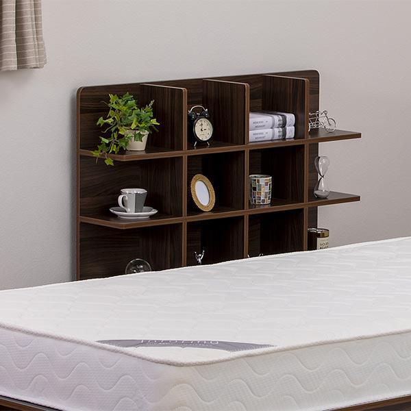 シェルフ 幅98cm 収納 ラック ベッド ベッドフレーム 組み立て簡単 ( ベッドサイド 棚 収納棚 壁面収納 )|colorfulbox|10