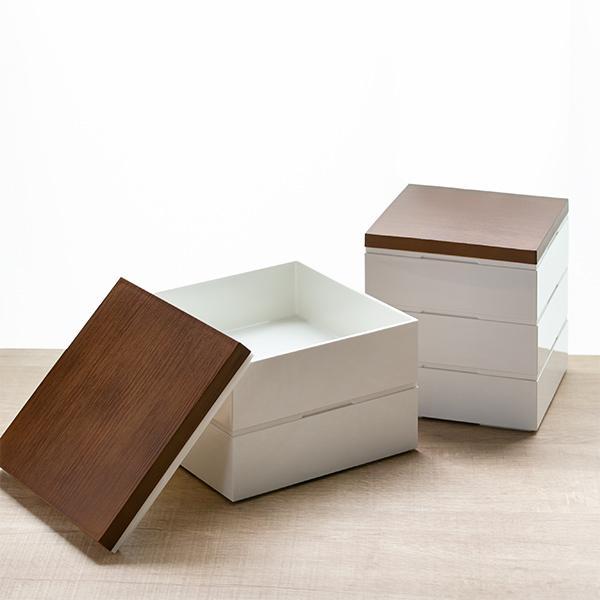お弁当箱 3段 重箱 木目三段重 15cm 行楽弁当 ( お重 弁当箱 ランチボックス 3段重 ) colorfulbox 12