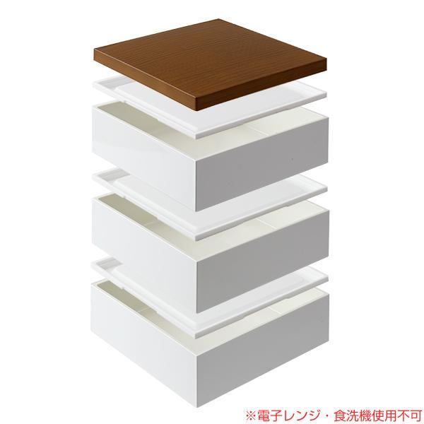 お弁当箱 3段 重箱 木目三段重 15cm 行楽弁当 ( お重 弁当箱 ランチボックス 3段重 ) colorfulbox 04