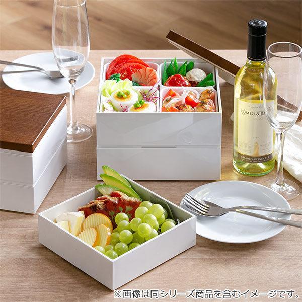 お弁当箱 3段 重箱 木目三段重 15cm 行楽弁当 ( お重 弁当箱 ランチボックス 3段重 ) colorfulbox 10