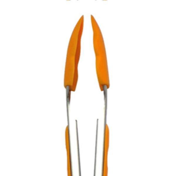 トング シリコン製 COLORED シリコントング シリコーン ( ストッパー付き 27cm オレンジ ブラック 黒 ブルー グリーン ピンク ) colorfulbox 03