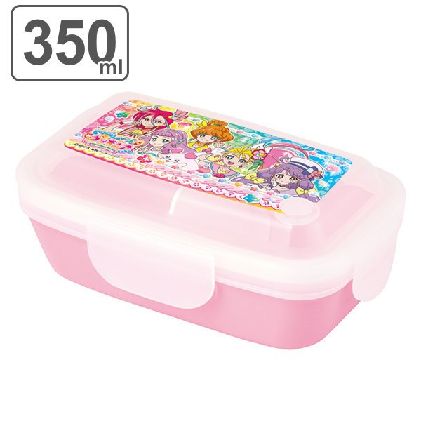 お弁当箱 トロピカル〜ジュ!プリキュア 1段 4点ロック ドームランチボックス 350ml 子供 ( ランチボックス 弁当箱 レンジ対応 食洗機対応 )|colorfulbox