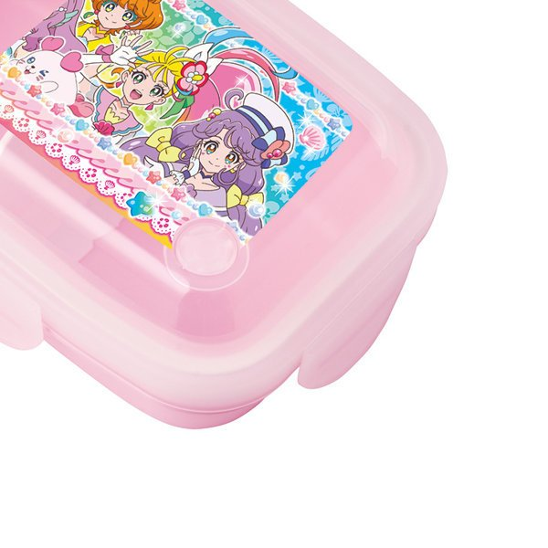 お弁当箱 トロピカル〜ジュ!プリキュア 1段 4点ロック ドームランチボックス 350ml 子供 ( ランチボックス 弁当箱 レンジ対応 食洗機対応 )|colorfulbox|03