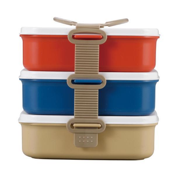 お弁当箱 3段 ランチボックス ピクニック CAPTAIN STAG キャプテンスタッグ ( 行楽弁当 重箱 お重 弁当箱 ランチボックス レンジ対応 食洗機対応 )|colorfulbox|02