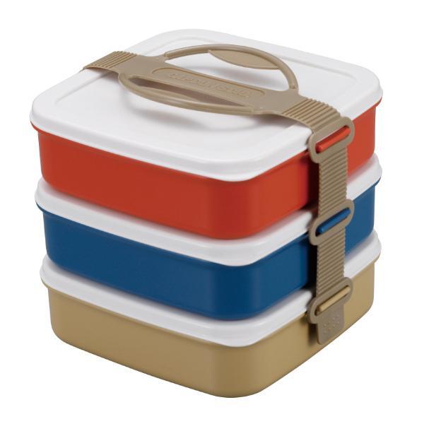 お弁当箱 3段 ランチボックス ピクニック CAPTAIN STAG キャプテンスタッグ ( 行楽弁当 重箱 お重 弁当箱 ランチボックス レンジ対応 食洗機対応 )|colorfulbox|04
