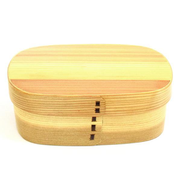 お弁当箱 曲げわっぱ 650ml 1段 くつわ型 ( 弁当箱 ランチボックス 木製 漆塗り ウレタン塗装 わっぱ弁当 ) colorfulbox 16