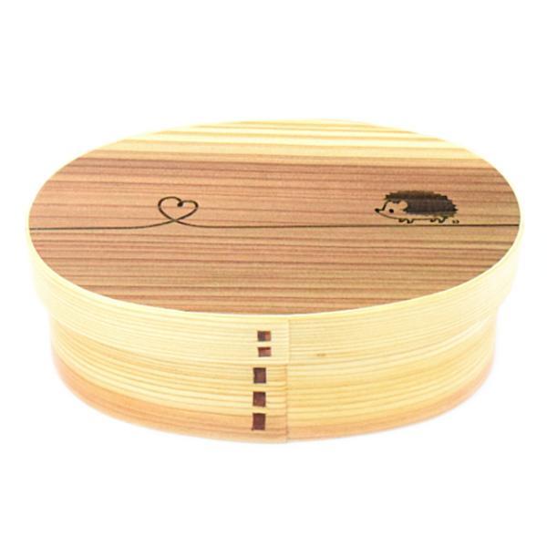 お弁当箱 曲げわっぱ 600ml ウレタン塗装 レーザー彫刻 デザイン 結び 動物 ( 木製 ランチボックス 弁当箱 一段 わっぱ 女子 )|colorfulbox|15