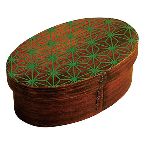 お弁当箱 曲げわっぱ 400ml 1段 小判 麻の葉 漆塗 ( 木製 ランチボックス 弁当箱 一段 わっぱ 和風 )|colorfulbox|17