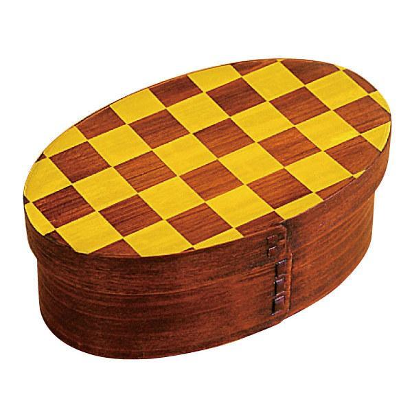 お弁当箱 曲げわっぱ 400ml 1段 市松 小判 漆塗 ( 木製 ランチボックス 弁当箱 一段 わっぱ 和風 ) colorfulbox 16