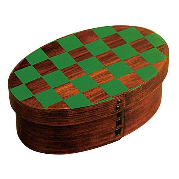 お弁当箱 曲げわっぱ 400ml 1段 市松 小判 漆塗 ( 木製 ランチボックス 弁当箱 一段 わっぱ 和風 ) colorfulbox 17