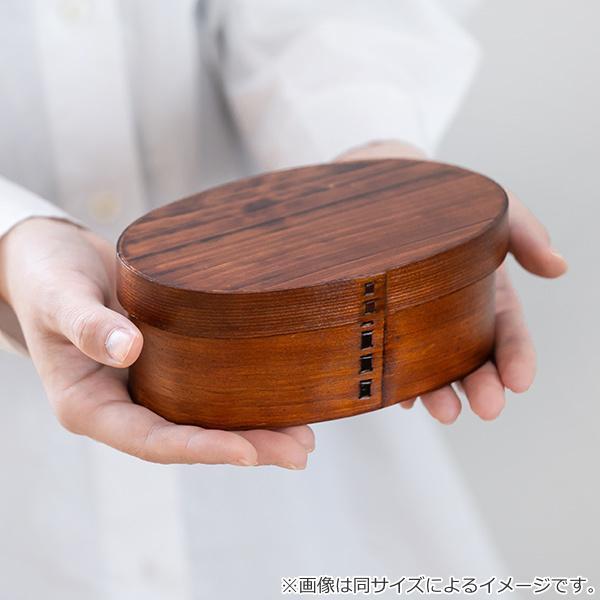 お弁当箱 曲げわっぱ 400ml 1段 市松 小判 漆塗 ( 木製 ランチボックス 弁当箱 一段 わっぱ 和風 ) colorfulbox 05