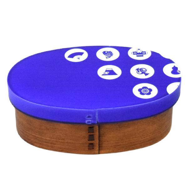 お弁当箱 曲げわっぱ 400ml 1段 漆 Kutan 玉福 ( 弁当箱 ランチボックス わっぱ 弁当 お弁当 小判型 九谷五彩 ) colorfulbox 16