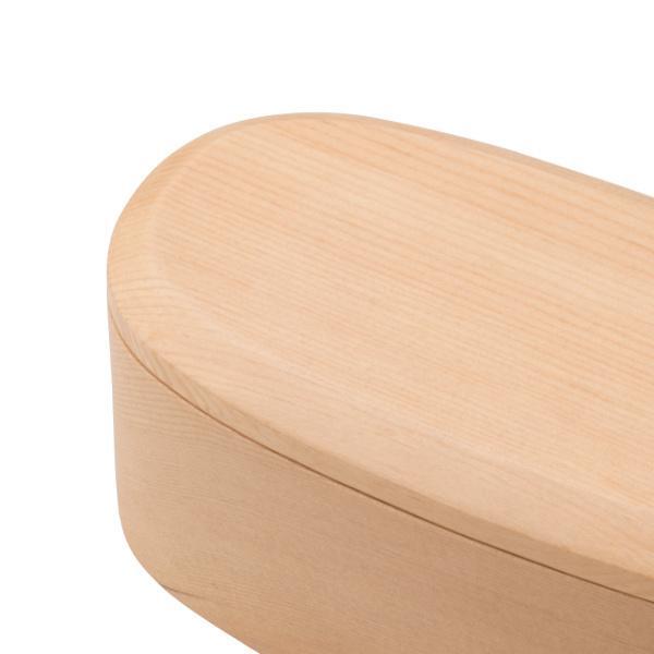 お弁当箱 1段 450ml 木製 くりぬき スリム ランチボックス ( 弁当箱 一段 くり抜き 女子 大人 日本製 )|colorfulbox|03