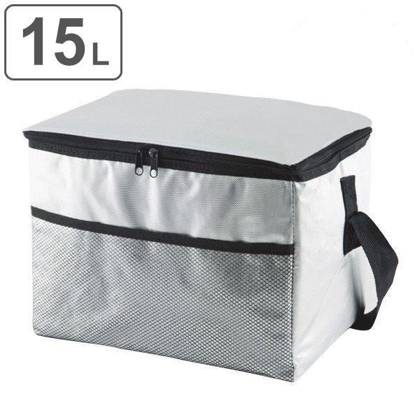クーラーボックス ソフトクーラーバッグ アルミ 15L ショルダーベルト付き ( 保冷バッグ 冷蔵ボックス 折りたたみ )