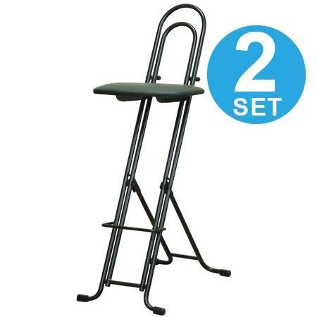 折りたたみ椅子 ジャンボベスト ワークチェア 2脚セット レザーシート ( カウンターチェア カウンターチェア デスクチェア )