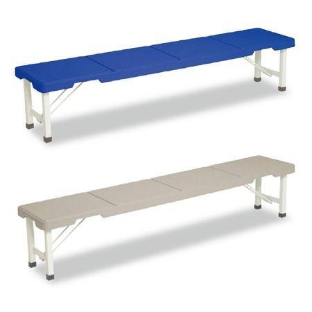 (法人限定) 長椅子 スタッキングブローベンチ 背なし 折りたたみ式 180cm ( ベンチ プラスチック 樹脂製 積み重ね )|colorfulbox