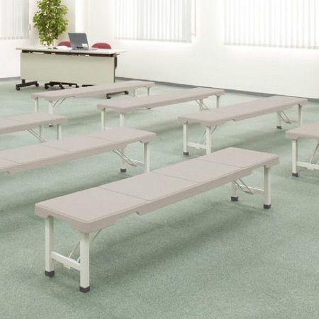 (法人限定) 長椅子 スタッキングブローベンチ 背なし 折りたたみ式 180cm ( ベンチ プラスチック 樹脂製 積み重ね )|colorfulbox|02